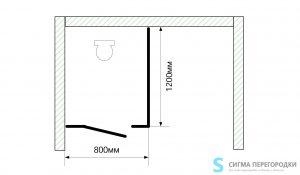 Сантехнические Перегородки 25мм из ЛДСП – 1 кабина