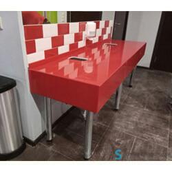 Сантехнические столешницы в общественный туалет